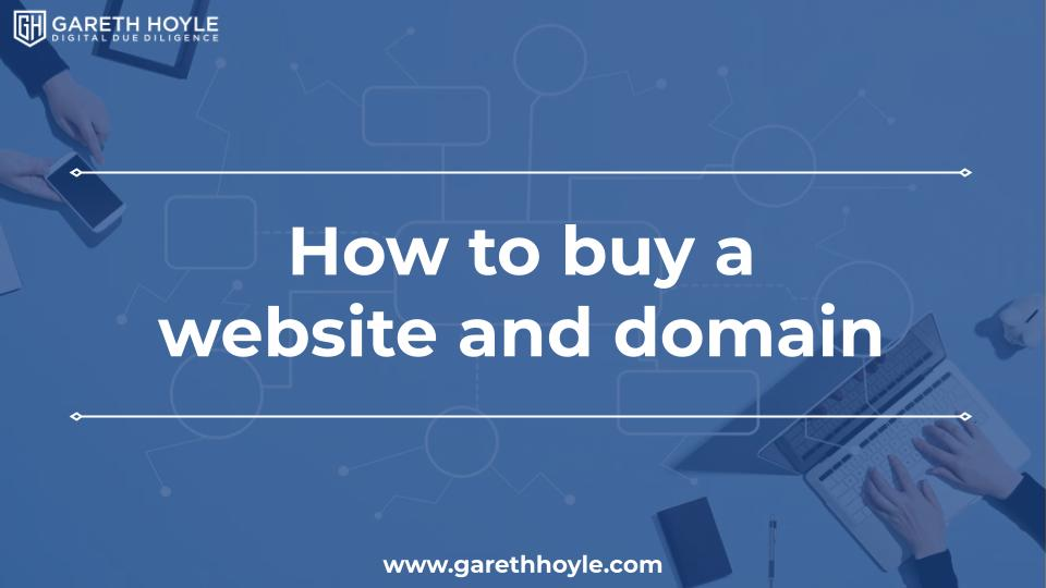 How to buy a website and domain